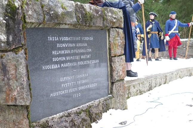Monumentet över slaget vid Napo restes 1920. Bilden är från 300-årshögtiderna år 2014.