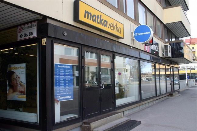 Arkivbild: Matka-Vekkas tidigare resebyrå i Karleby.