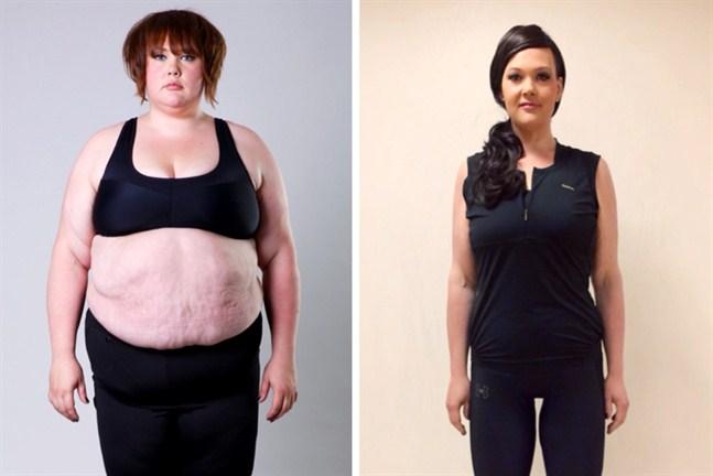 Under programmets gång tappade Sarah Forsberg 73,1 kilo vilket motsvarade nästan halva hennes kroppsvikt.