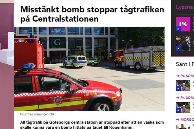 Bombhot stoppade tagtrafik