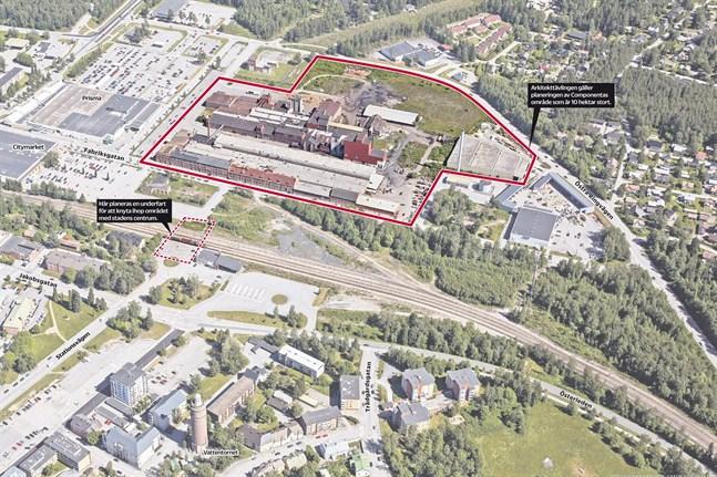 Tio hektar mark som varit fabriksområde i över hundra år är en verklig utmaning att planera. Då kläckte stadsplanearkitekt Pekka Elomaa idén att ordna en arkitekttävling. Componenta gillade tanken.