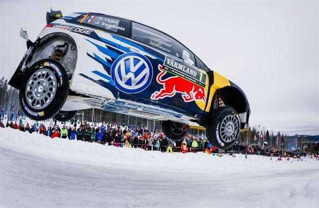 Sébastien Ogier i farten i Sveriges VM-rally. Bilden är från 2015.
