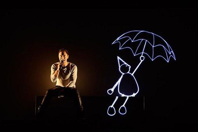 "Måns Zelmerlöw framförde bidraget ""Heroes"" i Melodifestivalen 2015."