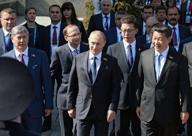 Vladimi Putin tackade de allierade från andra världskriget.
