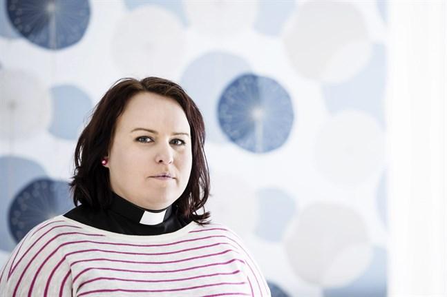 Arkivbild: Sarah Tiainen, metodistpastor kommer ta en paus från pastorsämbetet för att sköta ett annat uppdrag.
