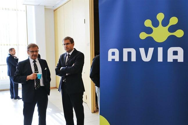 Anvias styrelseordförande Bengt Beijar och vd Mika Vihervuori.