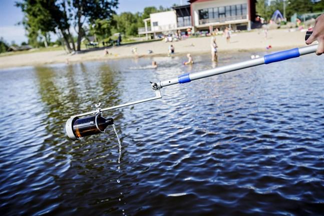 Vattenproven från Vägvik badstrand har visat på för höga halter av tarmbakterier. Bilden är från en annan strand.