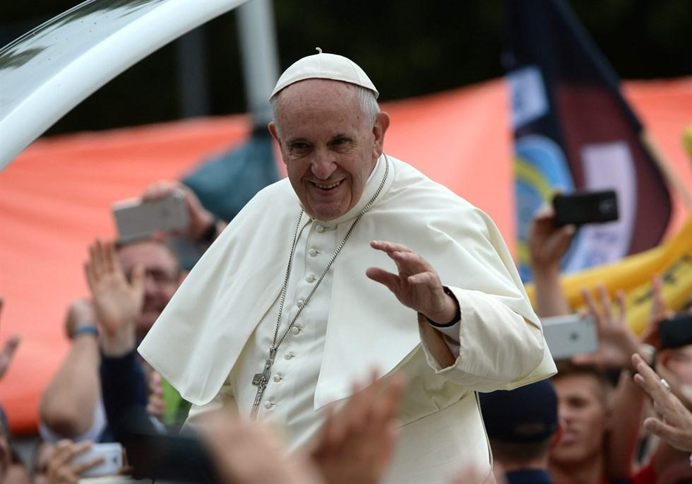 Paven besoker heliga landet