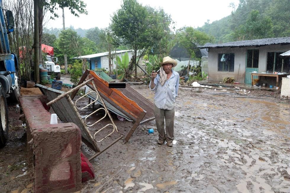 Boende offer for jordskred