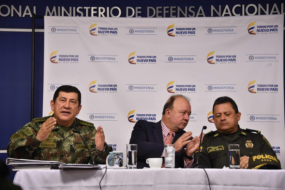 Stopp for vapen till colombia