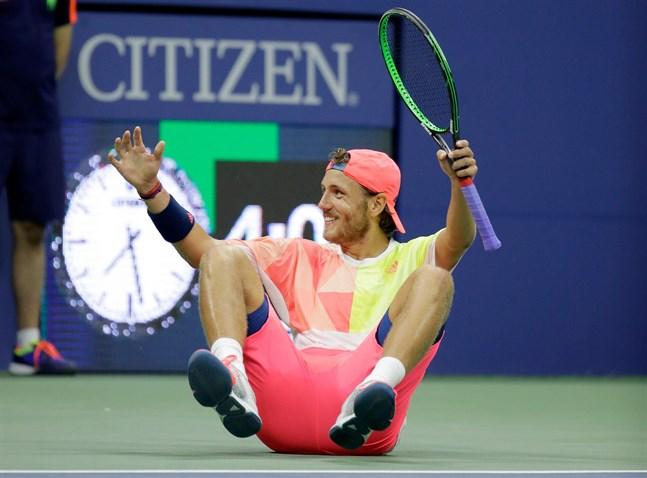 22-åriga Lucas Pouille slog ut den spanska stjärnan Rafael Nadal i tennisens US Open.