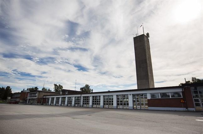 Huvudbrandstationen vid Smedsbyvägen i Vasa.
