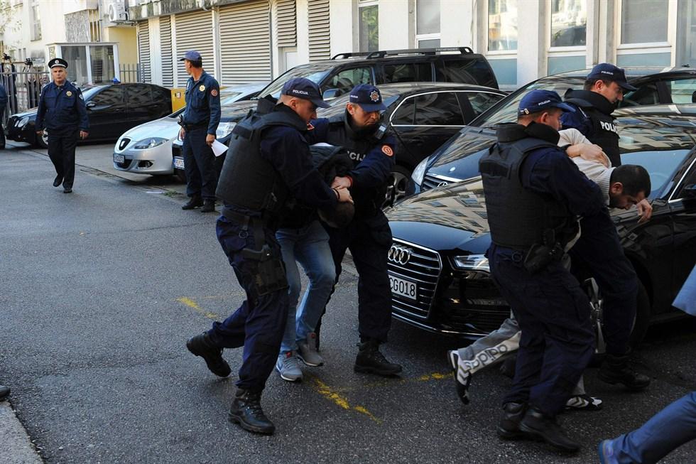 Serber misstanks ha planerat dad i montenegro