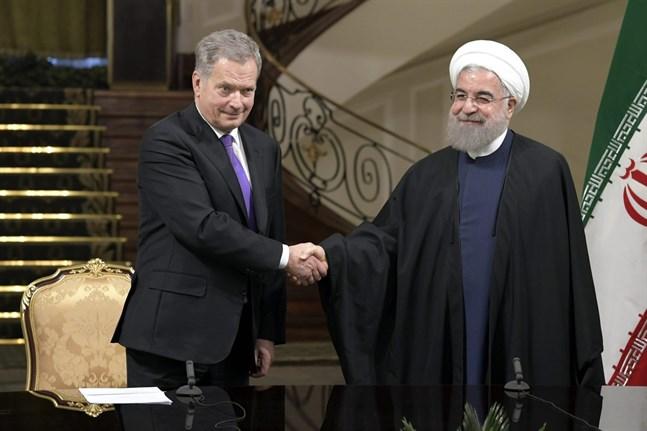 Finlands president Sauli Niinistö träffade på onsdagen Irans president Hassan Ruhani i Teheran.