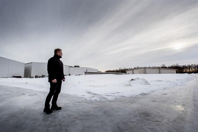 Vd Bjarne Snellman på Torp Frys området i Kållby. Initialt var tanken att destruktionsanläggningen skulle byggas där.