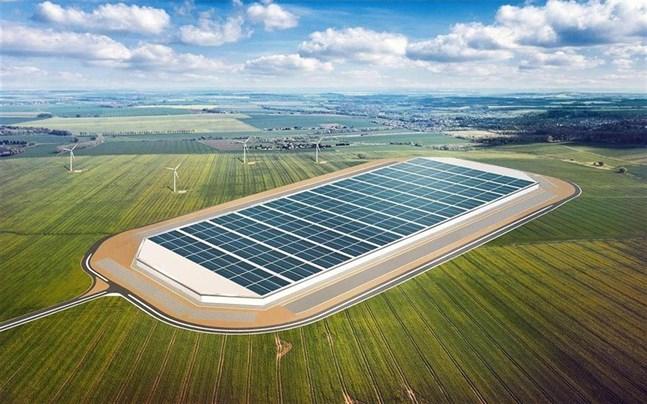 Vasa var tidigt ute. I december 2016 presenterades planen på att locka Teslas batterifabrik till staden. Då användes den här bilden.