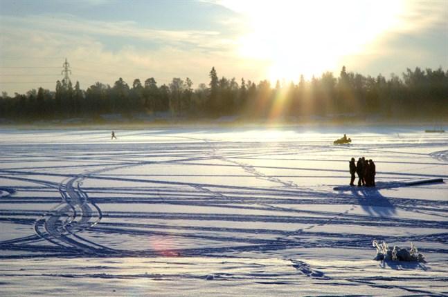 I Vasatrakten är snötäcket kring 40 centimeter djupt