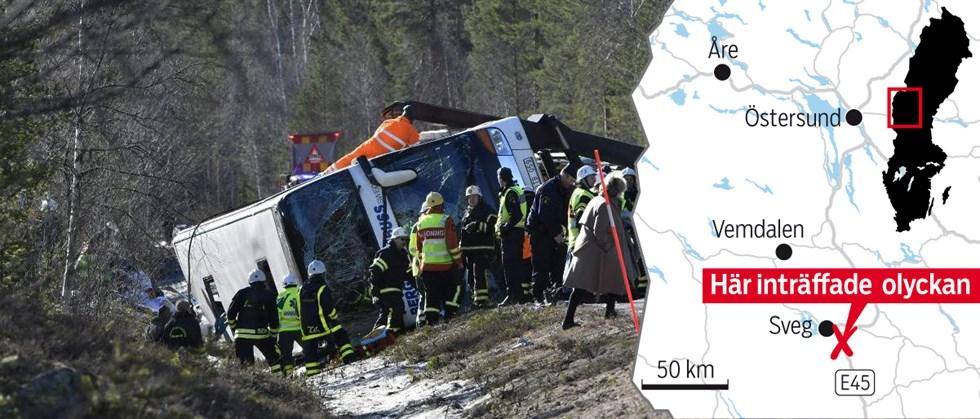 Svenska tonaringar saknas efter olyckan