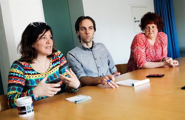 Stina Svels, Kenneth Nordberg och Ghita Bodman ser gärna att landsbygdsforskningen fortsätter vid Åbo Akademi.