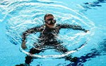Ralf Lax är redo för dykning.