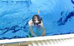Emelie Lillqvist deltar i dykningsrally.