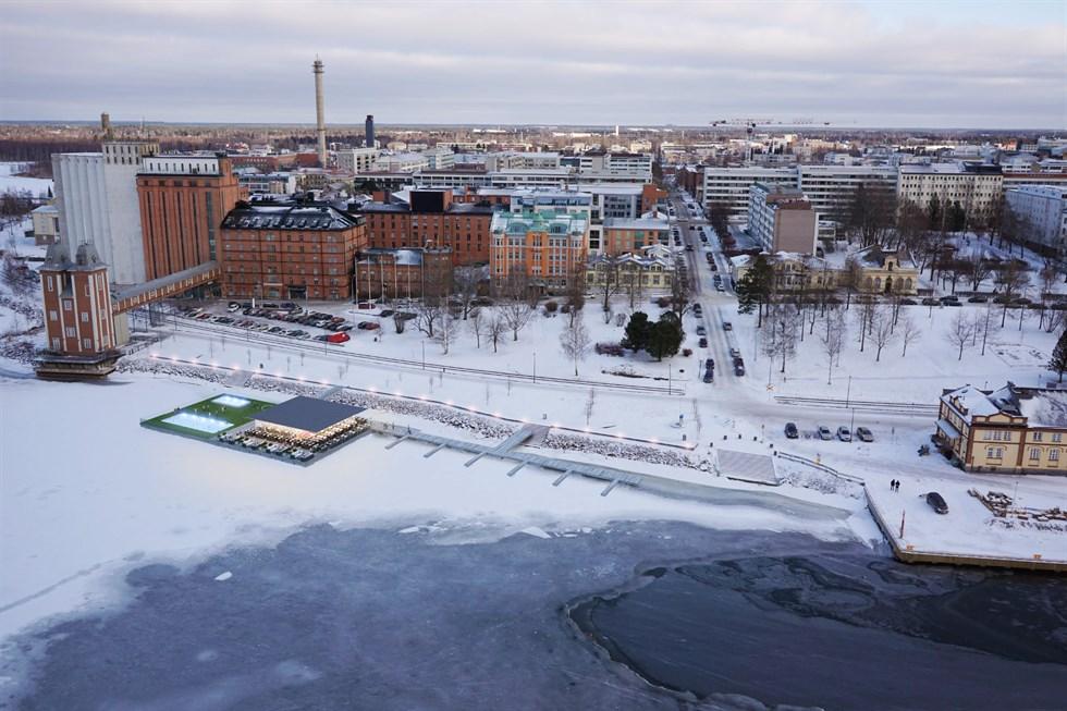 Se Skisserna Två Förslag Tävlar Om Inre Hamnen Vasabladet