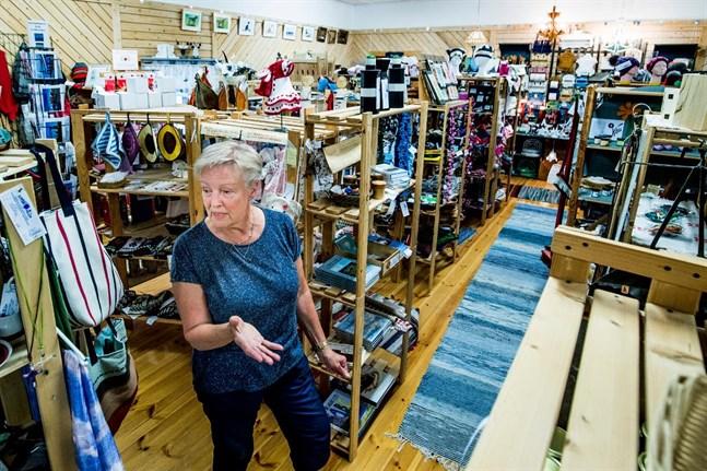 I Sommaröhallen finns hantverksbutik, café, bokhörna och arkiv. – Det här har blivit en ganska betydelsefull plats, en träffpunkt, säger Marléne Ström.