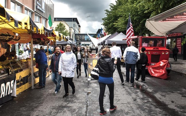 Arkivbild: Street Food Fiesta i Karleby.
