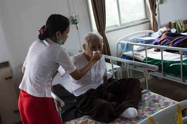 En åldring i Burma.