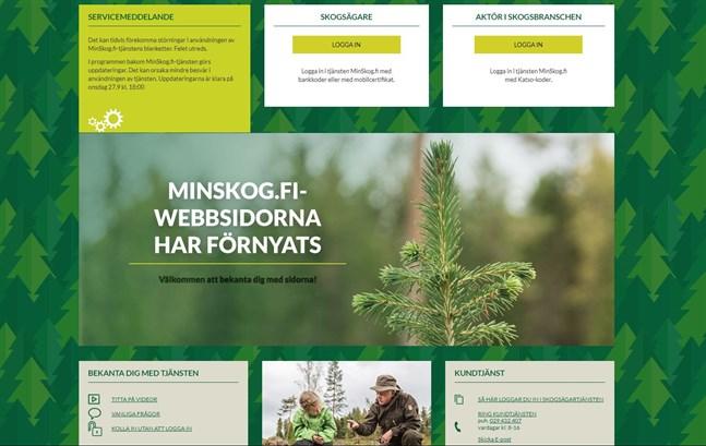 Webbsidorna i tjänsten MinSkog.fi har förnyats.