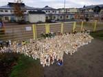 Ljushavet framför Lyceiparkens lekplats där brottet ägde rum fortsatte att växa på tisdagen.