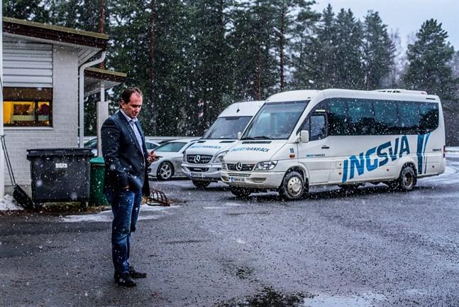 Kennet Svanbäck är mycket nöjd med köpet som innebär fler linjer för Ingsva.
