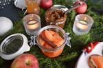 Havtornsinkokt äpple passar perfekt på en pepparkaka!