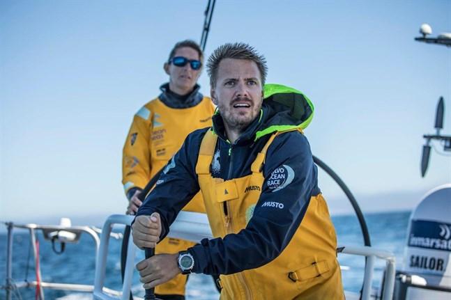 Svensken Martin Strömberg på Ocean Race-båten Turn the tide on plastic.