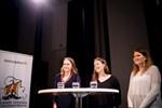 Frida Sande, Antonia Holmgren och Evelina Jåfs från Borgå gymnasium vann den finlandssvenska debattävlingen på torsdagen.