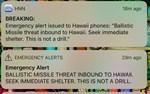 Meddelandet gick bland annat ut på mobiltelefoner.
