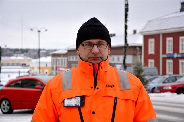 Bengt Berglund, ordförande i Kristinestads företagare, befarar en tuff vår för företagarna.