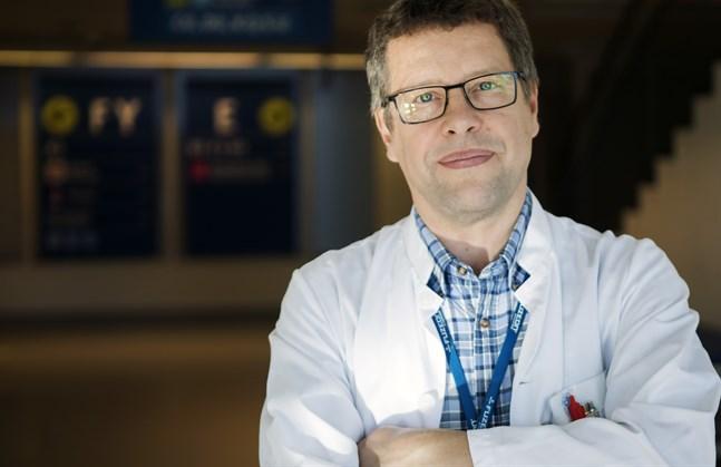 Juha Salonen, infektionsöverläkare i Vasa sjukvårdsdistrikt.