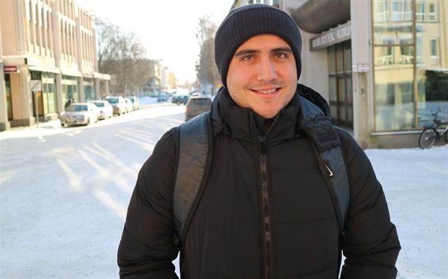 Darvin Chavez strax efter att han hade anlänt till Jakobstad vårvintern 2018.