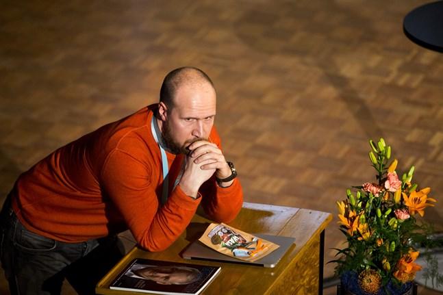 Touko Aalto då han beökte Energy Week i Vasa.