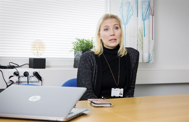 Marina Kinnunen valdes i mars till direktör för Vasa sjukvårdsdistrikt.