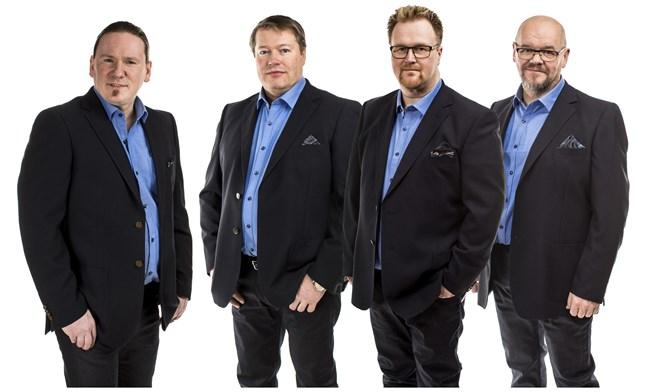 Tommys är, från vänster, Tom Käldström, Kent Vikstran, Markus Stara och Affe Tuomela.