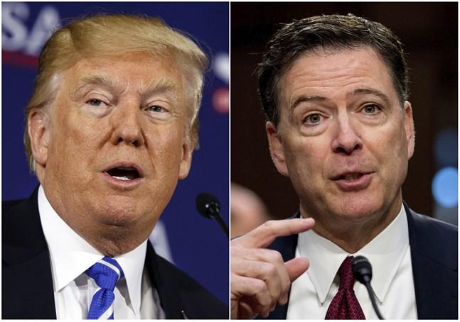 USA:s president Donald Trump och den tidigare FBI-chefen James Comey.