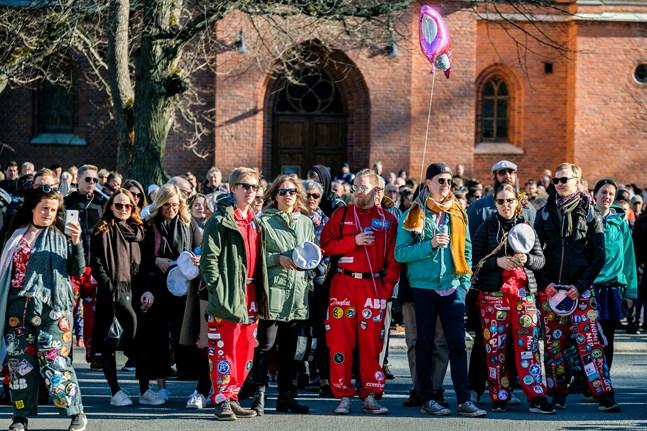 Bilden är tagen i Vasa på valborgsmässoafton 2018.