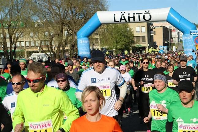 2125 deltagare var med i den tolfte upplagan av Kokkola City Run.