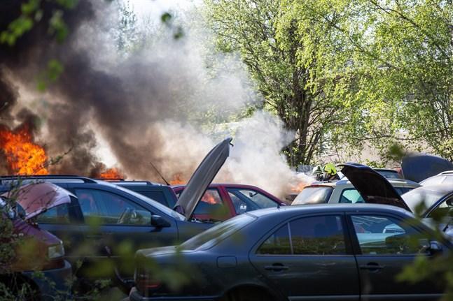 Brand orsakade kaos och elavbrott