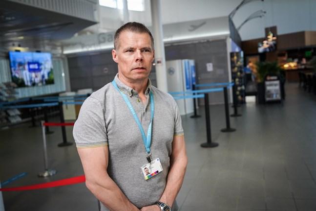 Vasa flygplats chef, Petri Lampi.