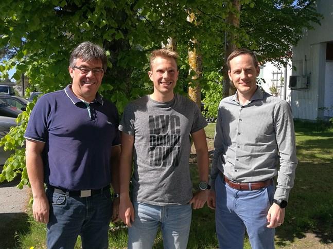 Christoph Treier, Eric Storvall och Dan Liljeqvist samlar traktens långloppsåkare.