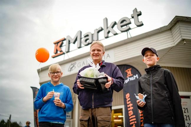 Jonas, Tom och Mats Lillas tyckte att den nya butiken var fräsch.