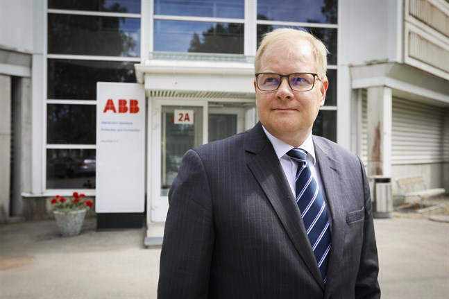 Pekka Tiitinen, ansvarig för ABB i Finland.